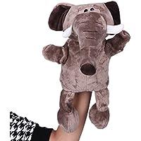 (ビグッド)Bigood ぬいぐるみ 手踊り 指人形 パペット 動物型 かわいい ベビー用品 おもちゃ 幼稚園 保育園 小象 ブラウン