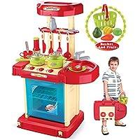 再生& CarryプラスチックPlay Toyキッチン – レッド