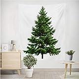 Formemory クリスマスツリー タペストリー クリスマス飾り クリスマスデコレーション おしゃれ壁掛け インテリア 窓側に吊る ウォールステッカー 松かさスノータイプ (150cm*100cm) シンプル 壁飾り