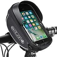 Bike Phone Front Frame Bag, Waterproof Bicycle Cellphone Mount Pack Cycling Top Tube Handlebar Bag Sensitive T