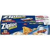 【大容量】ジップロック イージージッパー 大 32枚入 スライド式ジッパー付き保存袋 冷凍・解凍用 (縦27.9cm×横26.8cm)