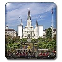 3drose LLC lsp _ 90466_ 2St Louis大聖堂、ニューオーリンズ、ルイジアナus19dfr0091David R Frazierダブル切り替えスイッチ