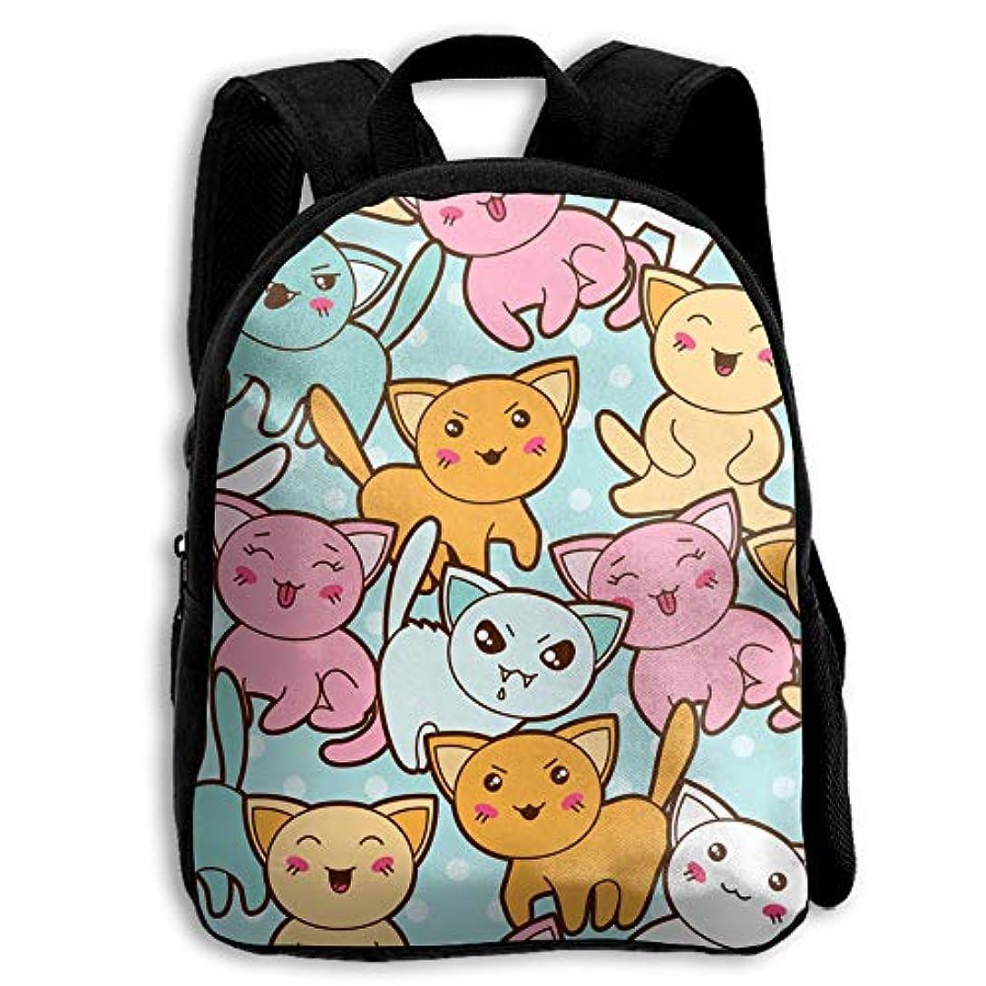 液体クリエイティブ早熟かわいい ネコ 子供用 リュック キッズリュック 通学 男女兼用 キッズバッグ 入園 入学 保育園 アウトドア 軽量 バックパック 双肩バッグ