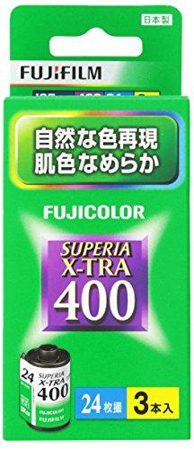 FUJIFILM カラーネガフイルム フジカラー SUPERIA X-TRA 400 24枚撮り 3本パック 135 SP400X-R 24EX 3SB