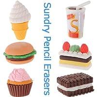 Assorted Foodノベルティかわいい鉛筆ゴム消しゴム消しゴムひな形アイスクリームケーキKid楽しいおもちゃ