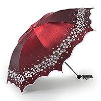 YETUGE 日傘 折りたたみ傘 晴雨兼用 完全遮光 UVカット 紫外線カット レディース かわいい 花柄