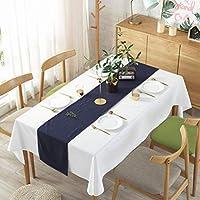 テーブルクロス 白 テーブルカバー 無地 北欧 装飾 茶卓 テーブルフラグ テーブルランナー 天然素材 ホーム用品 140×180cm ホテル ホームパーティー
