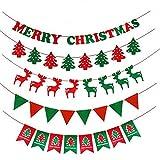 クリスマス 飾り付け 5種類セット クリスマスガーランド サンタクロース 靴下 ツリー 飾り パーティー 店舗 イベント 装飾 インテリア デコレーション
