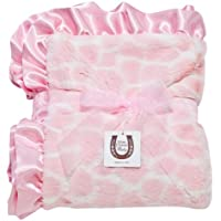 Max Daniel Baby Throw Blanket, Pink Giraffe by Max Daniel Designs