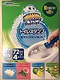 スクラビングバブル トイレ洗浄剤 トイレスタンプ 72日分×4本入 288日分 (ジェル容器×4本・持ち手×4個)