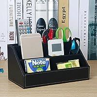 WTL かご?バスケット 革の収納ボックスの家のデスクトップの破片の収納ボックス (色 : ブラック, サイズ さいず : 24*13.5*12cm)