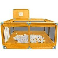 ベビーサークル ベビープレイペンキッズアクティビティセンター、ポータブルセーフティプレイヤードオックスフォード布プレイグラウンド、室内子供用プレイフェンス (色 : Orange)