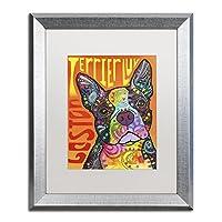商標Fine Art Boston Luv by Dean Russoの写真史ホワイトマットとシルバーフレーム 16x20 ALI2606-S1620MF