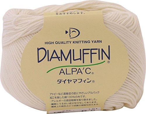 ダイヤモンド毛糸 ダイヤマフィン 毛糸 合太 col.6 クリーム 系 40g 約136m 10玉セット