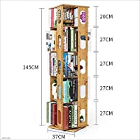 HUO,本棚 360度回転するシンプルな本棚ラックマルチレベルフロア学生用書棚 (サイズ さいず : 145*37cm)