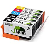 JARBO 4 Color Compatible Replacement for Printer Ink HP 564 High Yield, (2 Black, 1 Cyan, 1 Magenta, 1 Yellow), Used in HP Photosmart 5520 6520 5510 6510 HP Officejet 4620 HP Deskjet 3520 Printer