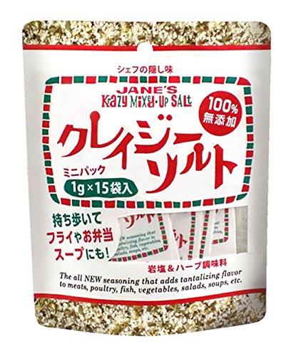 日本緑茶センター クレイジーソルト ミニパック 15g×12個