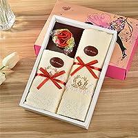 3、非常にユニークなギフトボックス包装の花タオルギフトボックスセットは、彼/彼女/それに誕生日、記念日、休日に驚きを与える,H