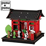 pusupusu浅草・浅草寺雷門ダンボールを組み立てて作る小さな工作キットCardboard tool kit, Sensoji Temple Kaminarimon