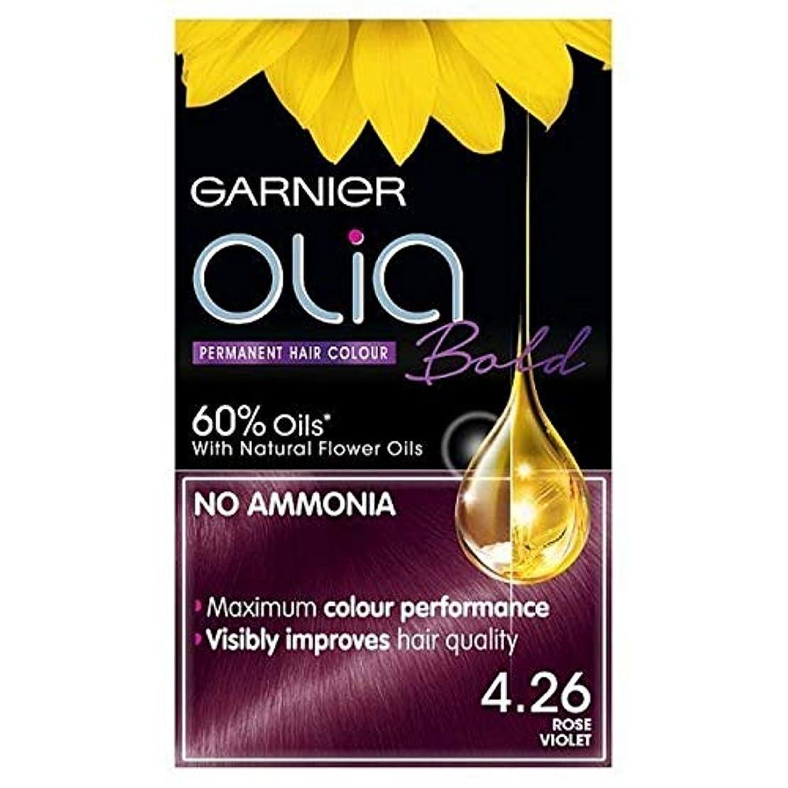 実現可能ばかげたデンプシー[Garnier ] ガルニエOlia大胆永久染毛剤は、紫4.26ローズ - Garnier Olia Bold Permanent Hair Dye Rose Violet 4.26 [並行輸入品]