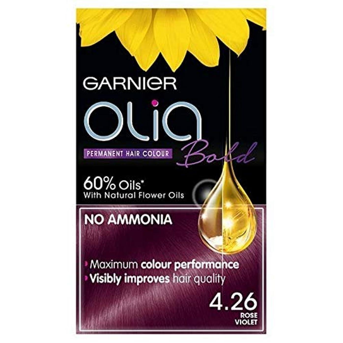 小川生き残りピニオン[Garnier ] ガルニエOlia大胆永久染毛剤は、紫4.26ローズ - Garnier Olia Bold Permanent Hair Dye Rose Violet 4.26 [並行輸入品]