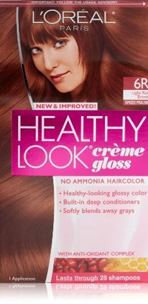 電話に出る予約敵意Healthy Look Light Red Brown, Spiced Praline by L'Oreal Paris Hair Color [並行輸入品]