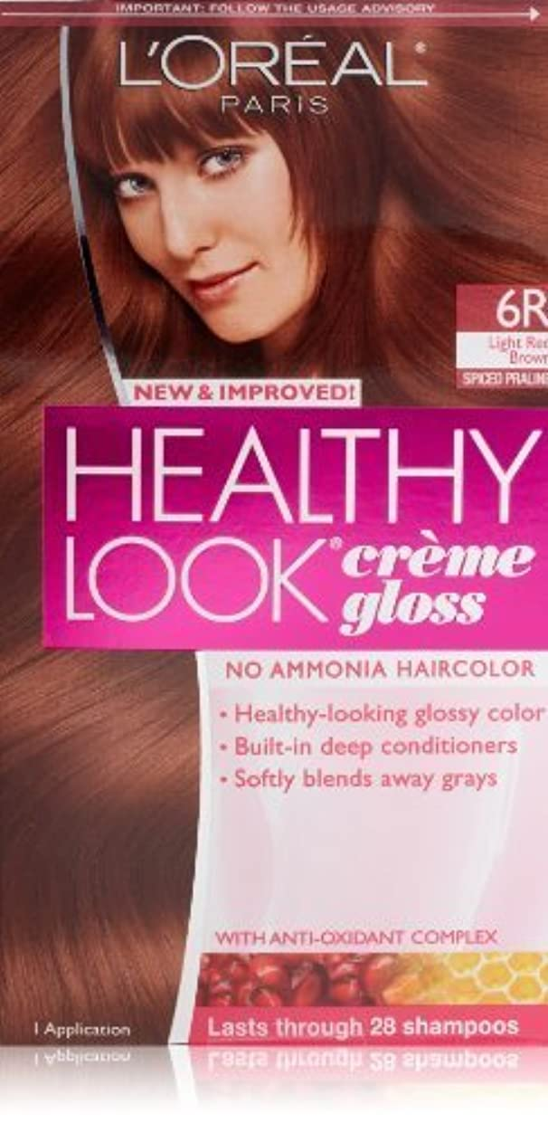 挑む不調和本質的にHealthy Look Light Red Brown, Spiced Praline by L'Oreal Paris Hair Color [並行輸入品]