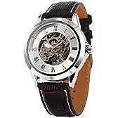 [エーエムピーエム24]AMPM24 ローマ数字 メンズ スケルトン 自動巻き 自動機械式 アナログ レザー 腕時計 PMW126