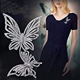 CXBH Elegant Pin Gold Color Women Gifts Butterfly Rhinestone Breast pin Accessories Mix Color Jewelry Painted Aooly Brooch Garments (Metal color : S9)