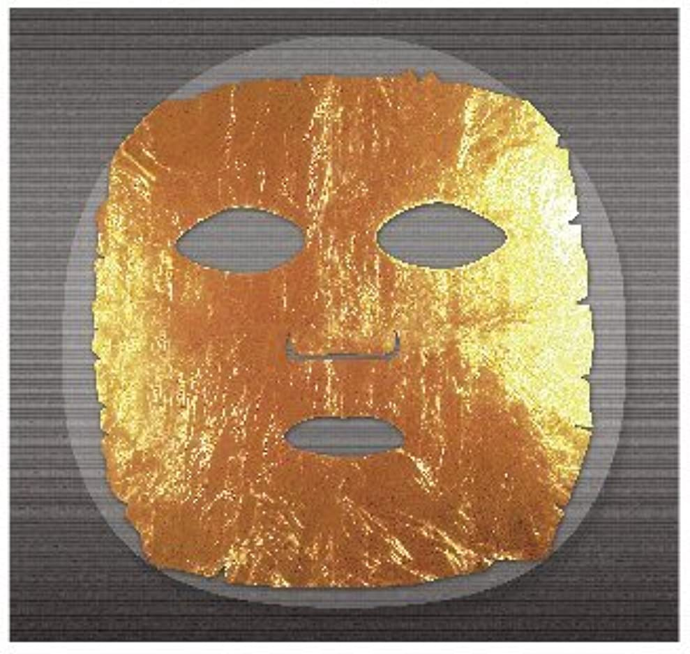 アサー地中海目の前の【金箔 美顔】ネフェルティ2 黄金フェイスシート【日本製】