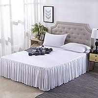 ファッション な ラップ ベッドスカート, 単色 ホテル 生地 綿 スリップ 保護カバー 弾性設計で-A 200x200cm