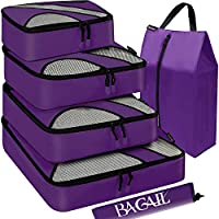 BAGAIL 6/7 Set Packing Cubes,Travel Luggage Packing Organizers with Laundry Bag