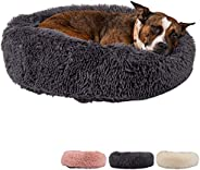 Zenify Pets Calming Dog Bed for Cats or Small Medium Dogs Puppy (60cm, Dark Grey)