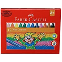Faber Castell Wax Crayons 75 Mm - 12 Shades [並行輸入品]