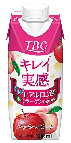 森永乳業 TBC Wヒアルロン酸コラーゲンアップル&ピーチ ...