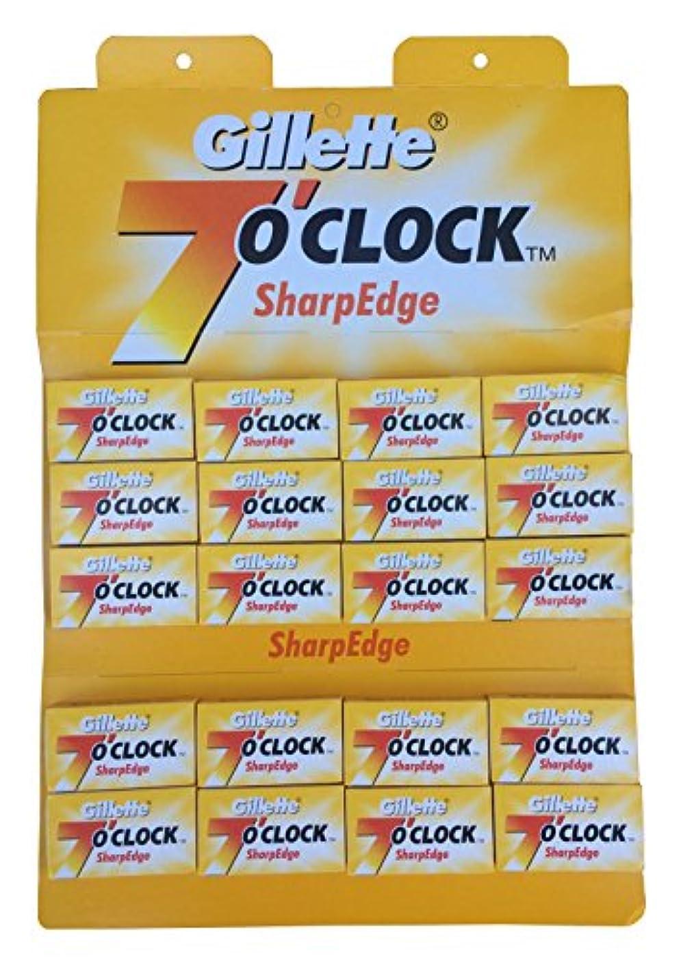 チェスをするコインランドリー実用的Gillette 7 0'Clock SharpEdge 両刃替刃 100枚入り(5枚入り20 個セット)【並行輸入品】