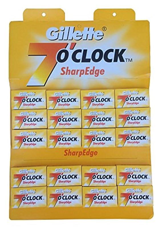 お香くぼみ指令Gillette 7 0'Clock SharpEdge 両刃替刃 100枚入り(5枚入り20 個セット)【並行輸入品】