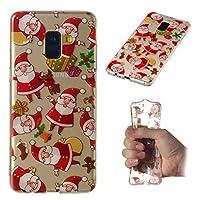ウルトラ-軽量 薄いです Samsung Galaxy A8 Plus 2018 肌 Happon 保護 シェル 皮膚 TPU 肌 の Samsung Galaxy A8 Plus 2018 (Santa)