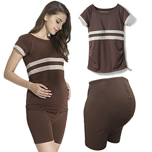 [해외]Sweet Mommy 출산 수영복 세퍼레이트 패드 하이 웨스트/Sweet Mommy Maternity swimsuit with separate pad High-waisted