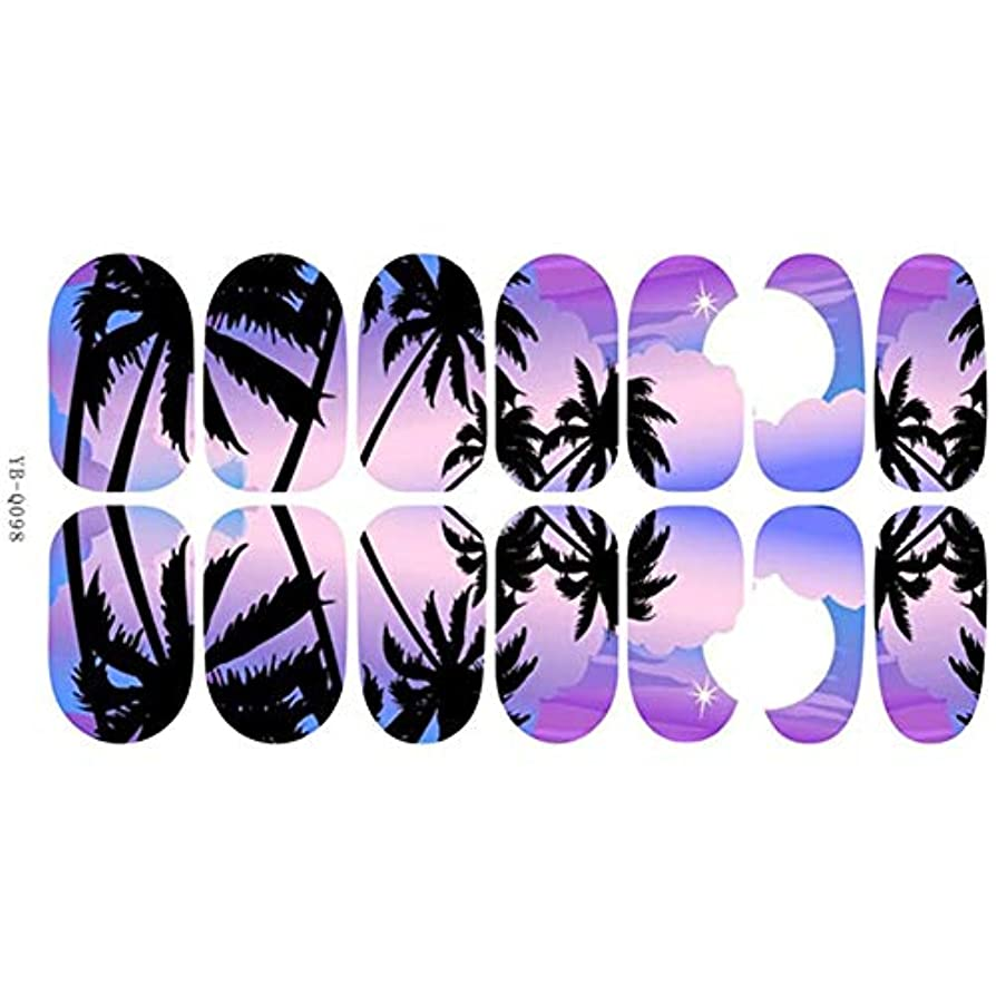 応用タッチマルクス主義Murakush ネイルステッカー ネイルツール 14pcs 明るい ライト パノラマ風景 ネイルアート ネイルアクセサリー YB-Q098 通常の仕様