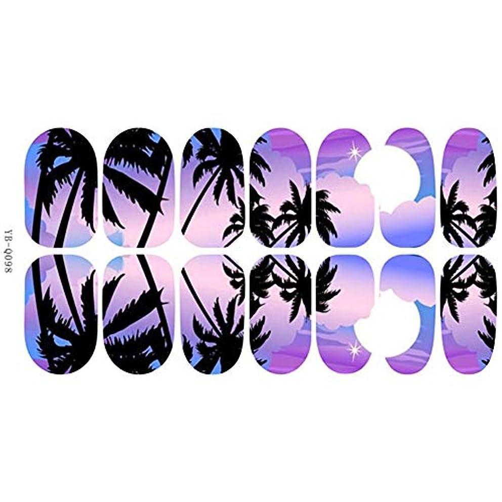バーゲン手当チャールズキージングMurakush ネイルステッカー ネイルツール 14pcs 明るい ライト パノラマ風景 ネイルアート ネイルアクセサリー YB-Q098 通常の仕様