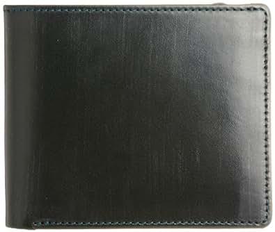 [ブリティッシュグリーン] BRITISH GREEN ダブルブライドルレザー二つ折り財布 10040005 グリーン×ブラウン (グリーン×ブラウン)