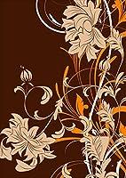 ポスター ウォールステッカー シール式ステッカー 飾り 257×364㎜ B4 写真 フォト 壁 インテリア おしゃれ 剥がせる wall sticker poster pb4wsxxxxx-007544-ds クール 花 フラワー オレンジ