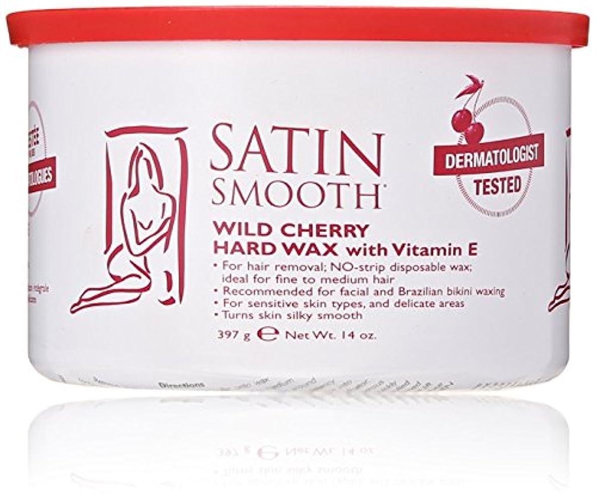 大理石再現する拷問Satin Smooth Wild Cherry Hard Wax with Vitamin E, 14 oz. 141[並行輸入]
