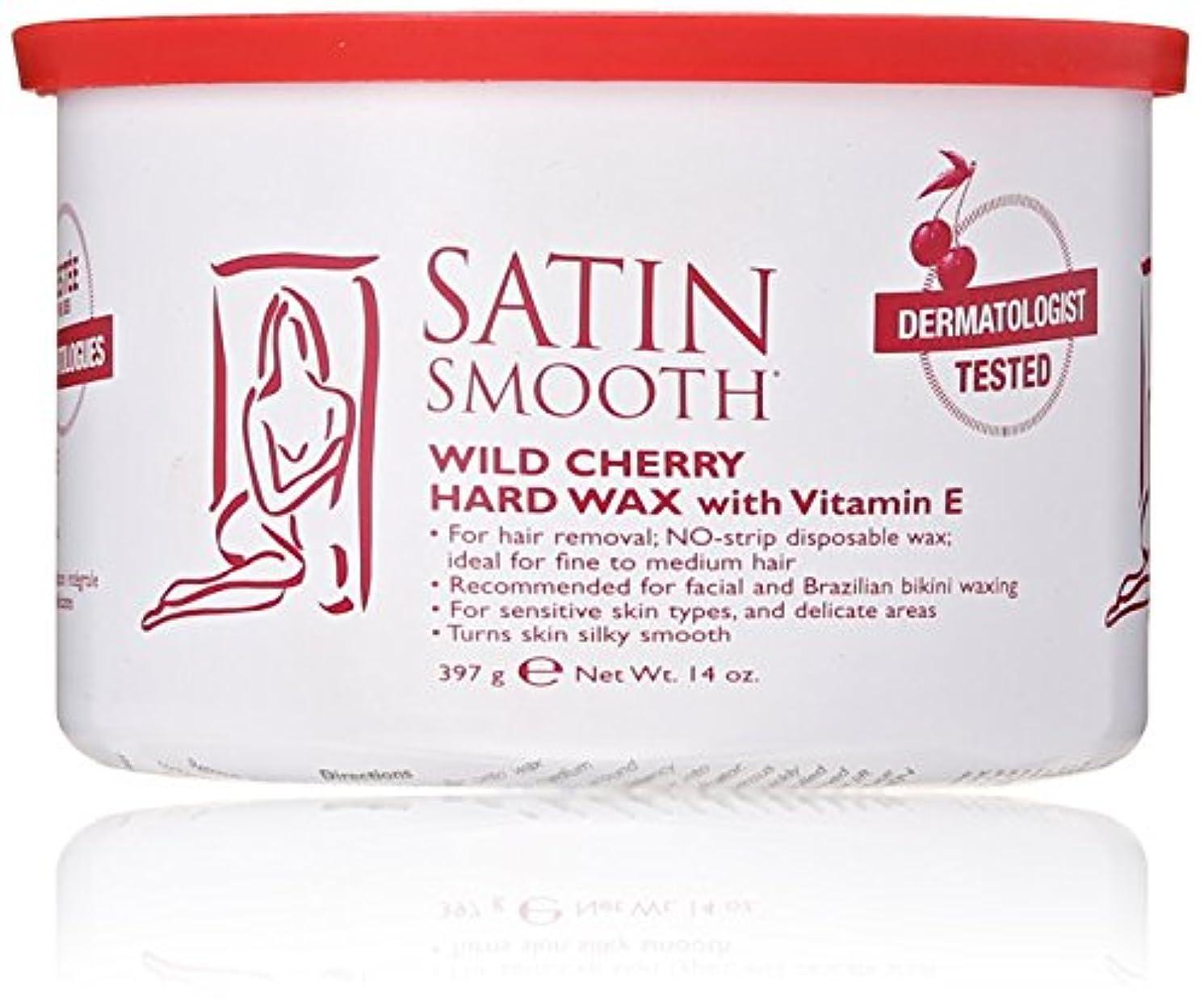 小説家ゆり複雑Satin Smooth Wild Cherry Hard Wax with Vitamin E, 14 oz. 141[並行輸入]