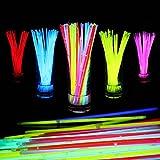 蛍光ブレスレット10色100本セット 光る サイリウム クリスマス ハロウィン ルミカ 蛍光 ケミカルライト パキッと折るだけ イベント ライブ に大活躍