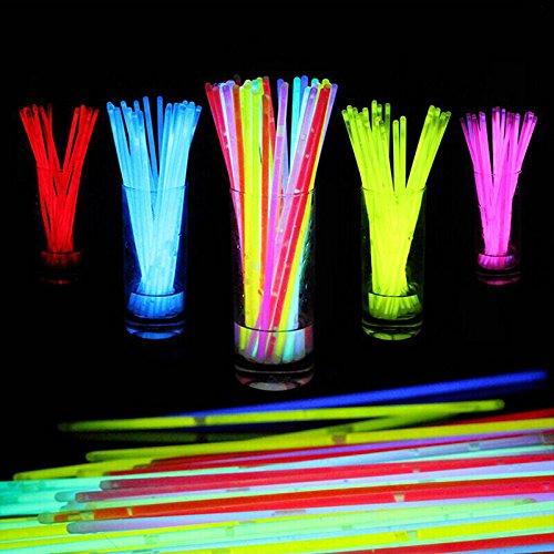 蛍光ブレスレット10色100本セット 光る サイリウム クリ...