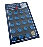 【RAYS(レイズ)】 ジュラルミンロック&ナットセット L42 ストレートタイプ M12×1.25 ブルーアルマイト 74020001011BL