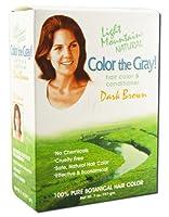 海外直送品 Light Mountain Color The Gray, Brown-Dark 7 Oz