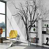 Mingld リビングルームのホームセンターの写真現代黒と白のスタイルエルクの壁紙の背景のための3D壁紙壁画壁画-350X250Cm